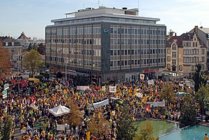 Anti-nuclear movement - Anti-nuclear demonstration in Colmar, north-eastern France, on October 3, 2009.