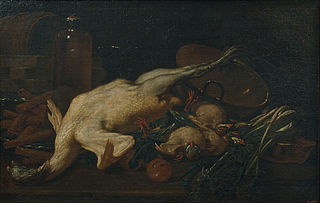 Still Life with Vegetables, Turkey, other Fowl and Wafers