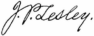 Peter Lesley - Image: Appletons' Lesley Peter signature