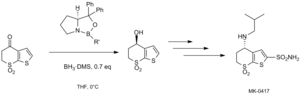 Corey–Itsuno reduction - CBS reduction of sulfone in MK-0417 synthesis