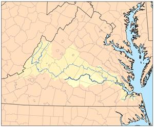 Appomattox River - Image: Appomattoxrivermap