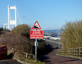 Approaching the Severn Bridge (15941352674).jpg