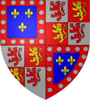 Charles IV, Duke of Alençon - Coat of arms of Charles IV, duke of Alençon and counts of Armagnac.