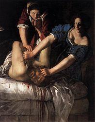 Artemisia Gentileschi: Judith Slaying Holofernes
