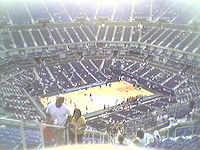 Arthur ashe stadium basketball court.jpg