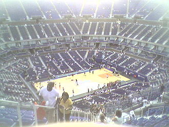 Arthur Ashe Stadium - In July 2008, Arthur Ashe Stadium hosted its first professional basketball game played outdoors.