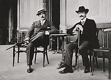 Giacomo Puccini con il direttore Arturo Toscanini