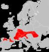Arvicola scherman range Map
