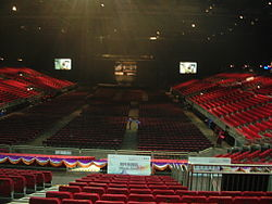 Interior of the AsiaWorld-Arena, 2010