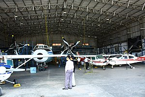 Chandran Rutnam - Rutnam at the hangar of Asian Aviation Centre and Lionair