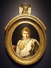 Napoleon the first in Coronation robe