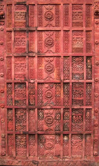 Bangladesh - The wall carvings on the 17th-century Atia Mosque built during the Mughal Empire