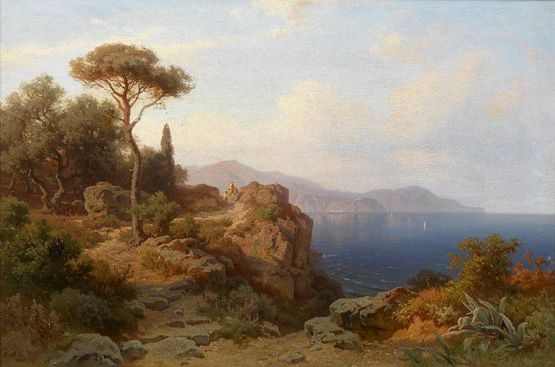 File:August Behrendsen Küste bei Nizza 1863.jpg