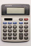 Aurora electronic calculator DT210 04.jpg