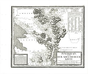 Inner Carniola - Inner Carniola or Postojna District, late 18th century map