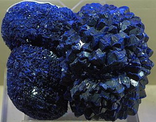 Azurite carbonate mineral