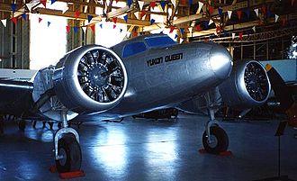 Barkley-Grow T8P-1 - CF-BLV while under restoration at the Aero Space Museum, Calgary, Alberta c. 2000