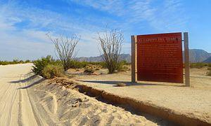 El Camino del Diablo - El Camino del Diablo in the Barry M. Goldwater Air Force Range, near Wellton, Arizona