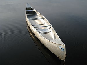 A canoe in the BWCA