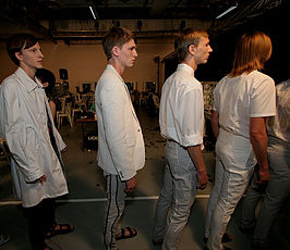 Raf Simons: Herfst-wintercollectie 2007 (backstage)