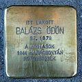Balázs Ödön stolperstein (Budapest-13 Kádár u 5).jpg