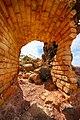 Balashi Gold mill ruins. The entrance of the Wall.jpg