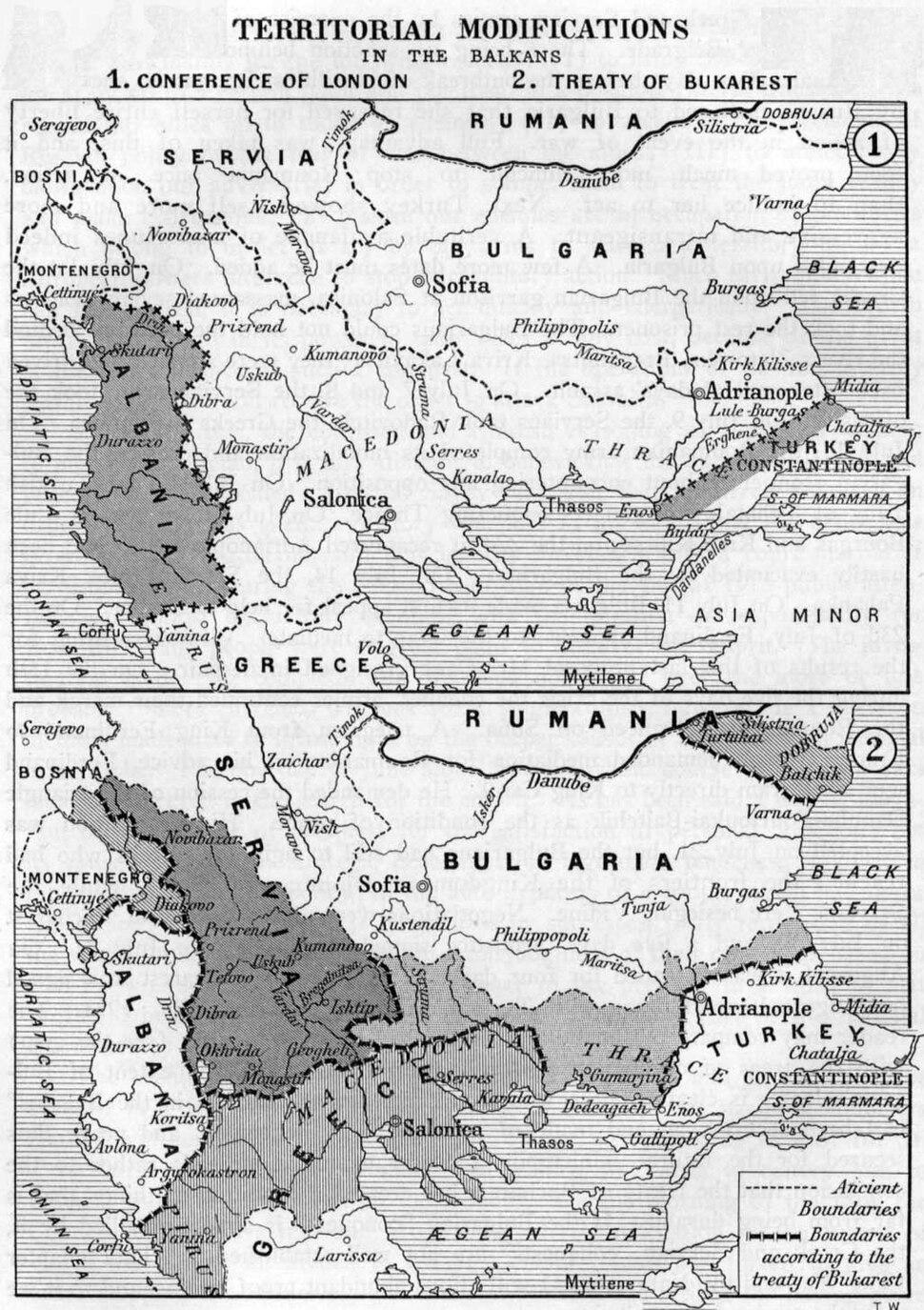 Balkan Wars Boundaries