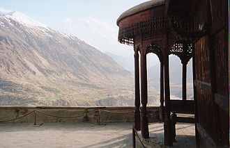 Baltit Fort - A view of the Hunza Valley from Baltit Fort in Pakistan