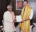 Bandaru Dattatreya meeting the Minister of State for Skill Development & Entrepreneurship (Independent Charge) and Parliamentary Affairs, Shri Rajiv Pratap Rudy, in New Delhi (1).jpg