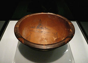 Yangshao culture - Human faced fish decoration bowl, 5000–4000 BC, Banpo village, Shaanxi