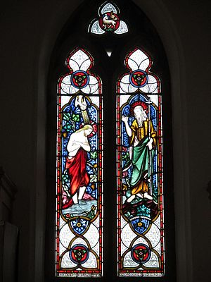 Hurstpierpoint - West window of the baptistry of Holy Trinity Church