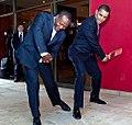 Barack Obama & Brian Lara in Port of Spain 4-19-09 (cropped).JPG
