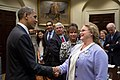 Barack Obama with small business owners in the Roosevelt Room.jpg