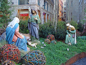 English: Nativity scene in Barcelona (2009)