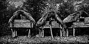 Samurzakano - Image: Barns in Saberio (Roskoschny, 1884)