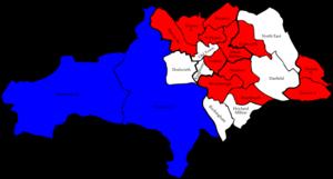 Barnsley Metropolitan Borough Council elections - Image: Barnsley 2007 election map