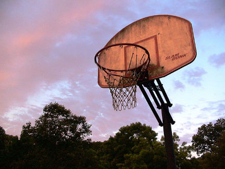 An outdoor basketball net Basketball Goal.jpg