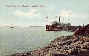 Nahant, Massachusetts - Bass Point Boat Landing in 1907