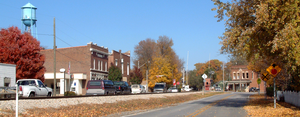 Tippecanoe County, Indiana - The view northeast into the town of Battle Ground