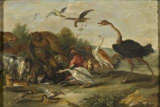 Battle between Owls and Quadrupeds
