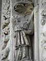 Bazas (33) Cathédrale Saint-Jean-Baptiste Façade ouest Portail central 2ème voussure 02.JPG