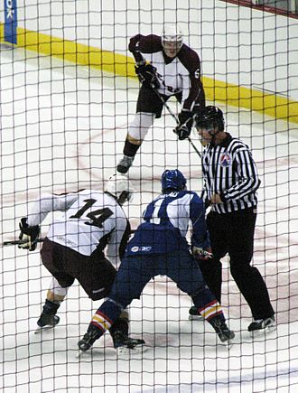 Hershey Bears - The Bears playing against the Norfolk Admirals during the 2009 preseason