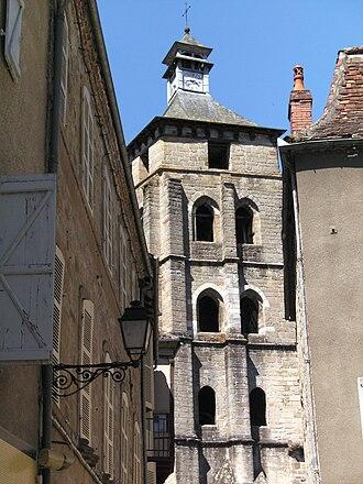 Beaulieu-sur-Dordogne - The belfry of the abbey church in Beaulieu-sur-Dordogne