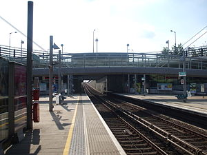 Beckton Park DLR station - Image: Beckton Park stn westbound