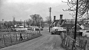 Bedwyn railway station - Station approach in 1963