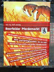 BeerfeldenHinweisPlakatPferdemarkt