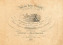 Title page of Beethoven's An die ferne Geliebte, his setting of Jeitteles's poems (Source: Wikimedia)