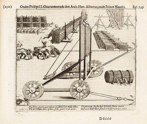 Beleg van Ostende - Belegeringswerktuigen (Michiel Colijn, 1616)