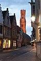 Belfort-Hal of Halletoren Brugge, gezien van in de Wollestraat.jpg