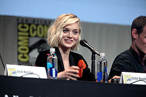 Bella Heathcote speaking at the 2015 San Diego Comic-Con International.jpg